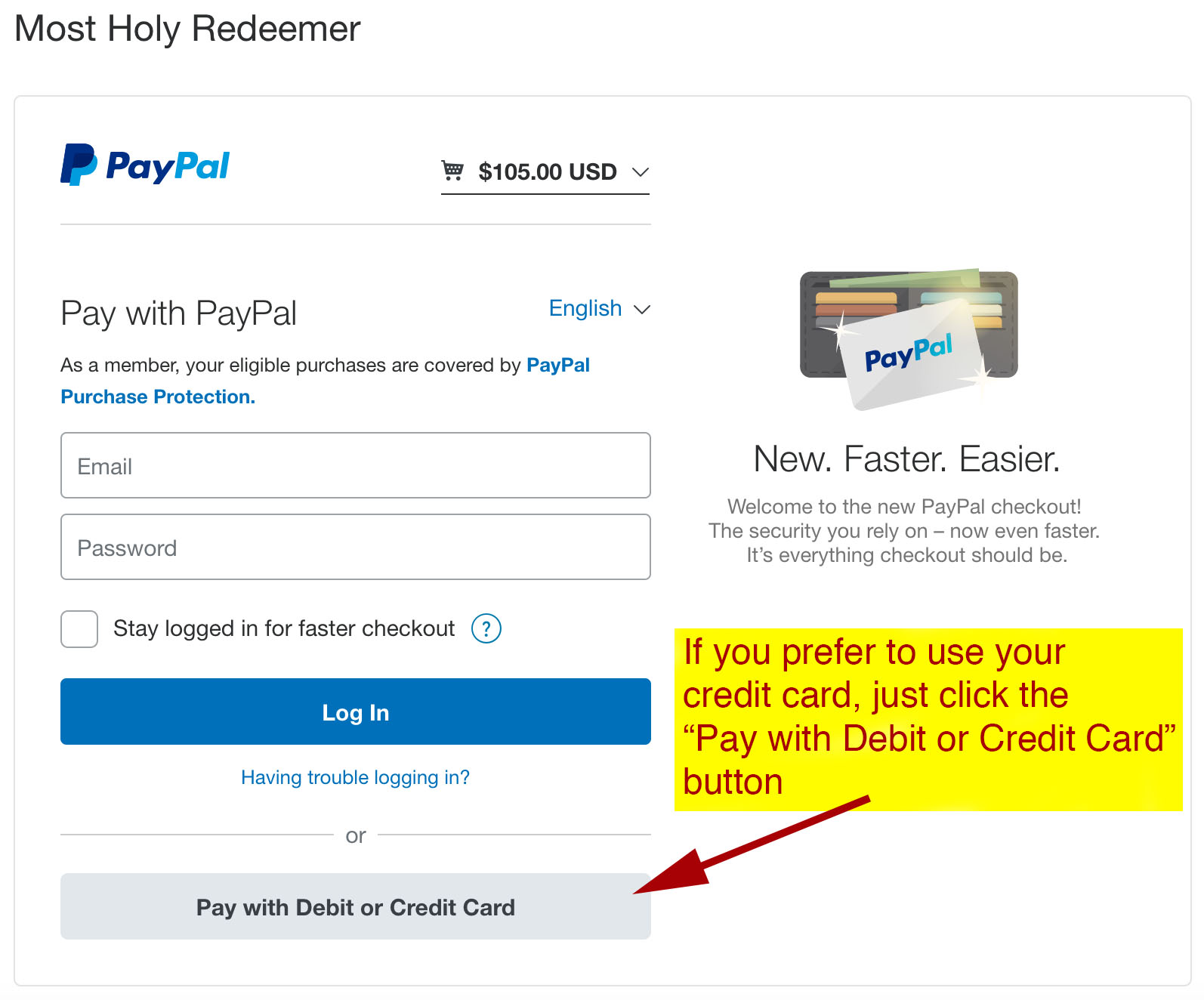 pay online with paypal or your credit card
